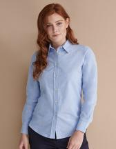 Ladies` Classic Long Sleeved Oxford Shirt