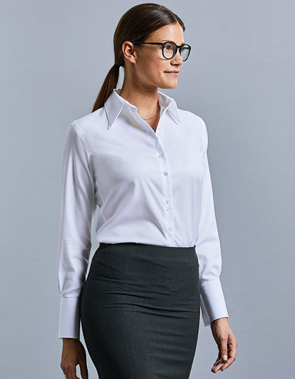 Ladies` Long Sleeve Tailored Ultimate Non-Iron Shirt